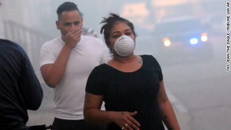 Residents were evacuated from 8,000 homes on Thursday.