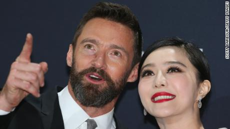 """Fan Bingbing and Hugh Jackman arrive at the Australian premiere of 'X-Men: Days of Future Past"""" on May 16, 2014 in Melbourne, Australia."""