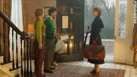 Emily Blunt, Emily Mortimer and Ben Whishaw in 'Mary Poppins Returns'