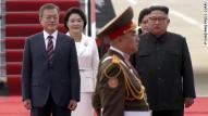 Image result for South Korean president arrives in North Korea