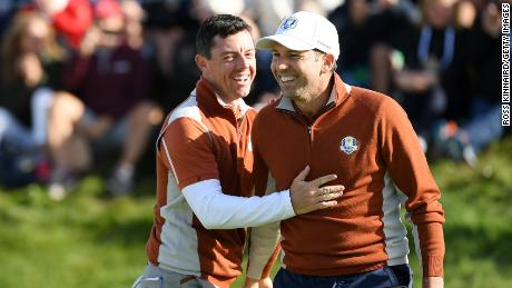 Rory McIlroy and Ian Poulter reprised their successful partnership.
