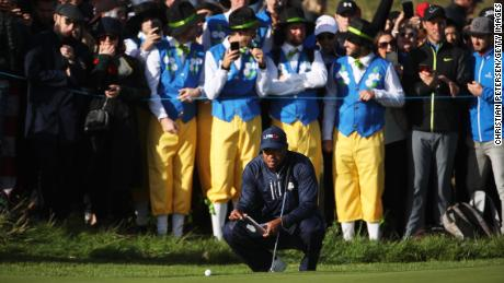 Tiger Woods could not stop Europe's runaway Ryder Cup train.