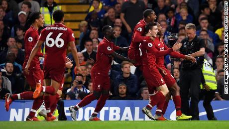 Liverpool celebrates Daniel Sturridge's late equalizer.