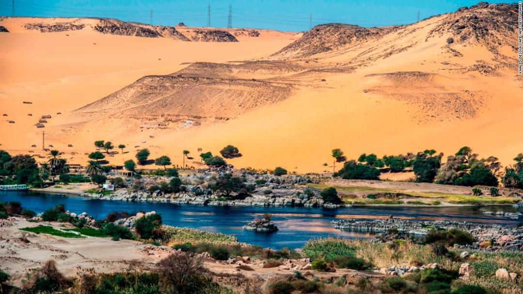 The Nile River provides Egypt with around three quarters of its water. As well as being a vital resource, the river plays an important role in Egypt's culture and sense of identity.