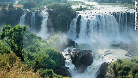 The Blue Nile Falls -- located near the river's source, Lake Tana in Ethiopia.