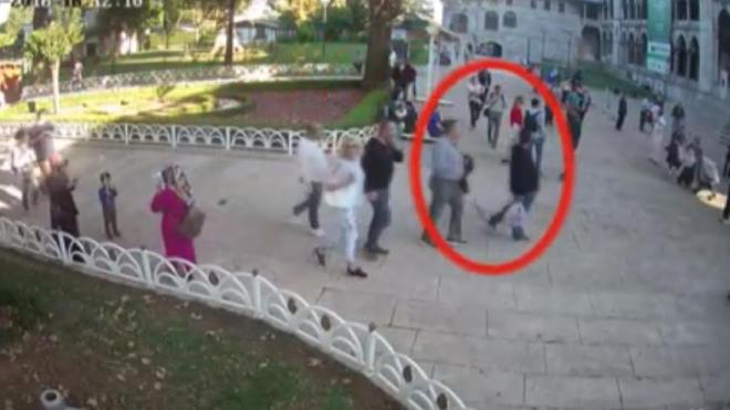 Madani at the Blue Mosque in Istanbul captured on law enforcement surveillance footage, according to a Turkish official.