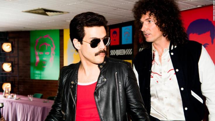 DF-14964_R -- Rami Malek (Freddie Mercury) and Gwilym Lee (Brian May) star in Twentieth Century Fox's BOHEMIAN RHAPSODY. Photo Credit: Alex Bailey.