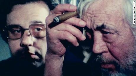 Peter Bogdanovich, John Huston in Orson Welles' 'The Other Side Of The Wind'