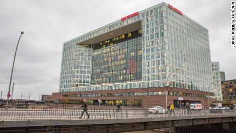 Der Spiegel's headquarters is seen in Hamburg.