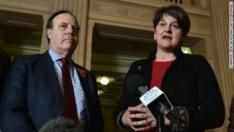 DUP leader Arlene Foster and deputy leader Nigel Dodds discuss their talks with the UK Brexit secretary.