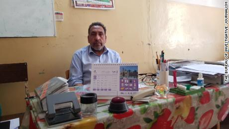 Dr. Mohammad Sadiq Naimi, head trainer and doctor at the Antoni hospital, in his office.