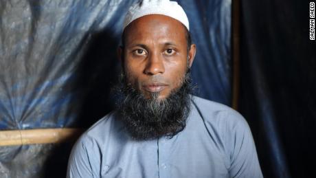 Rohingya refugee Dil Muhammad in Cox's Bazar, Bangladesh