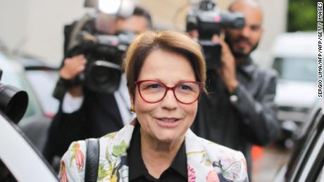 Tereza Cristina, Brazil's new minister of agriculture, on November 8, 2018.