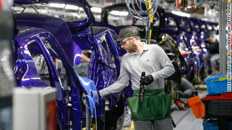 A Nissan manufacturing plant in England, part of the global auto empire Ghosn oversaw.