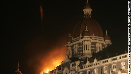 The Taj Mahal Palace Hotel, which dates to the early 1900s, suffered extensive fire damage during the attack.