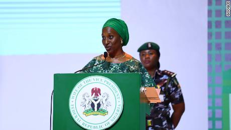 ÉL. Sra. Dolapo Osinbajo Esposa del Vicepresidente de Nigeria y Patrona de Google Impact Challenge Nigeria