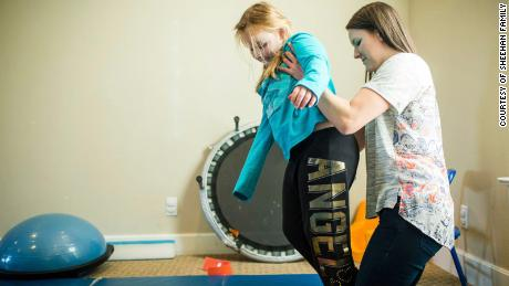 Bailey Sheehan's physical therapist, Melissa Murray, researched care for children with polio to help Bailey recover from AFM.
