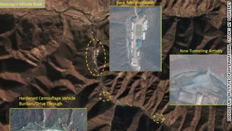 Credit: Middlebury Institute of International Studies at Monterey Photos from the Middlebury Institute of new developments of a North Korean missile site taken in October/November 2018.