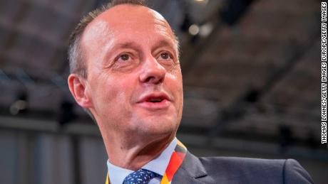 Friedrich Merz arrives at the federal executive board meeting on December 7, 2018 in Hamburg, Germany.