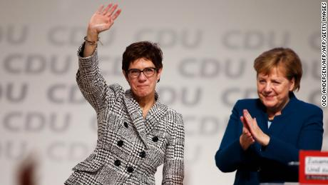 Annegret Kramp-Karrenbauer, a Merkel protege, elected leader of Germany's ruling party