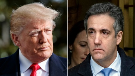 Michael Cohen says Donald Trump knew hush payments were wrong
