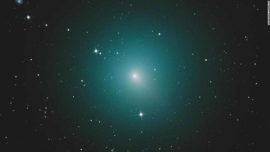 Comet 46P/Wirtanen will pass within 7 million miles of Earth on December 16. It's ghostly green coma is the size of Jupiter, even though the comet itself is about three-quarters of a mile in diameter.