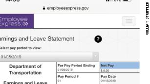 He worked 64 hours this pay period. Here's what his pay stub looks like