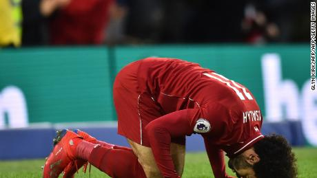 Mo Salah scored his 14th league goal of the season in the win over Brighton.