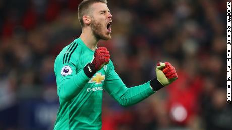 David De Gea made a series of key saves to protect United's lead.