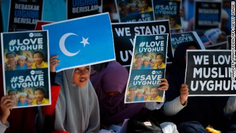 Uyghurs and allies urge action against China in Washington