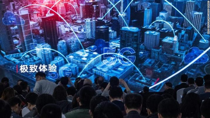 A Huawei event in Beijing showcasing new 5G products. The company is one of China's most successful global businesses.