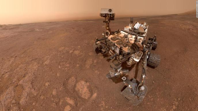A selfie taken by NASA's Curiosity Mars rover on Vera Rubin Ridge before it moves to a new location.