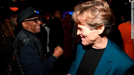 Spike Lee and Willem Dafoe at the luncheon.