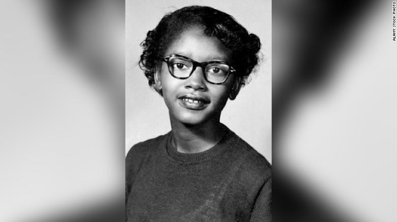 Before Rosa Parks, Claudette Colvin, then 15, was arrested for not giving up her bus seat to a white person in Montgomery, Alabama.