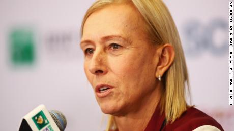 John McEnroe and Martina Navratilova join forces at Australian Open to hold on-court protest