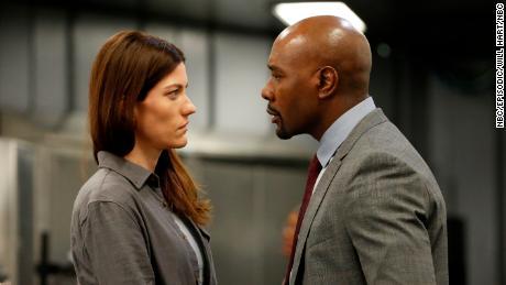 Jennifer Carpenter, Morris Chestnut in 'The Enemy Within' (Will Hart/NBC)