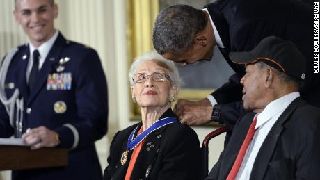 A legendary woman, a trailblazer, an American hero -- Katherine Johnson