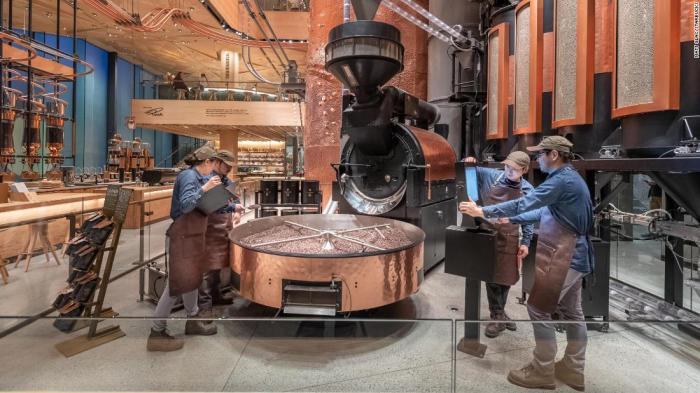 The Tokyo Roastery's bean-roasting cask.