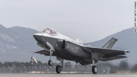 A Royal Australian Air Force F-35 aircraft takes off during the Australian International Airshow at Avalon airport on March 3, 2017.