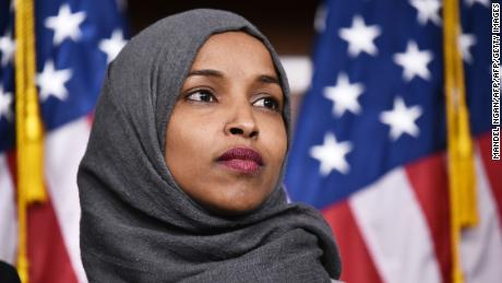 Representative-elect Ilhan Omar, D-MN, attends a press conference in the House Visitors Center at the US Capitol in Washington, DC on November 30, 2018.  (MANDEL NGAN/AFP/Getty Images)