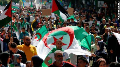 Massive crowds call on Algerian President Abdelaziz Bouteflika to resign
