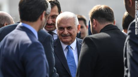 Turkish ruling Justice and Development Party (AKP) Istanbul mayoral candidate Binali Yildirim in Istanbul.