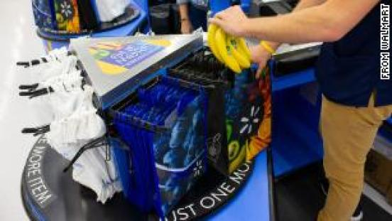 Walmart will sell 98¢ reusable bags at checkout carousels to cut down on plastic