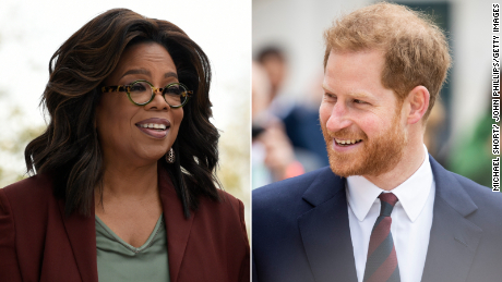 Oprah Winfrey and Prince Harry hosting a follow-up town hall