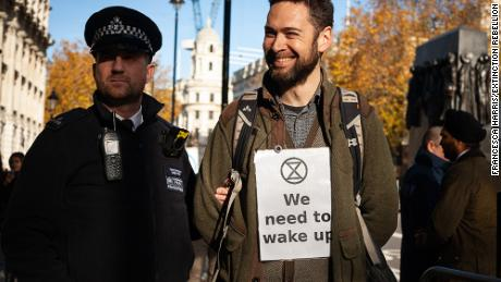 An Extinction Rebellion protester, London, November 2018
