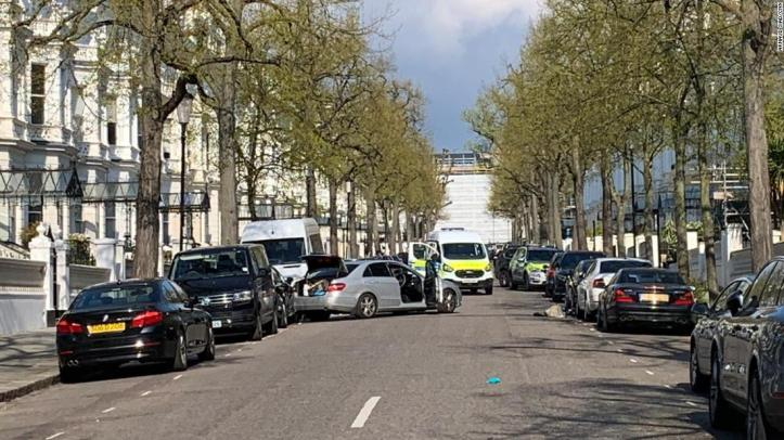 Image result for British Police open fire as vehicle rams Ukraine embassy car in London; no injuries