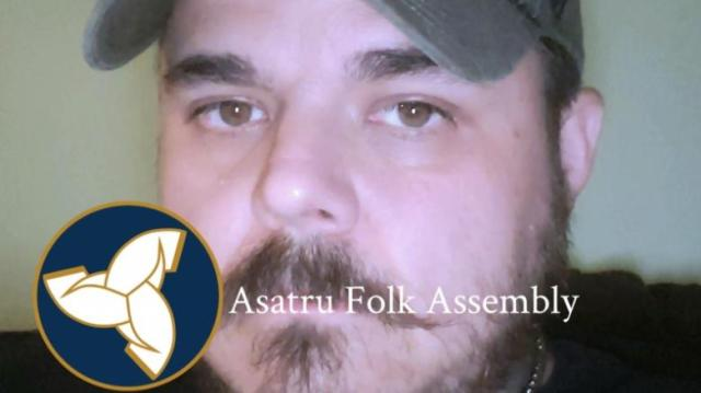 On his Facebook profile photo, Stamm has a stamp of the Asatru Folk Assembly, an organization the Southern Poverty Law Center classifies as a hate group.