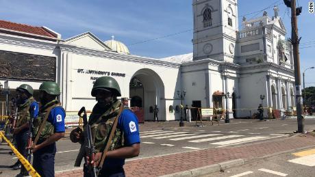 The exterior of St Anthony's Shrine in Colombo, Sri Lanka, on April 22, 2019.