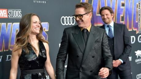 """Susan Downey, Robert Downey Jr. and Bradley Cooper attend the world premiere of Walt Disney Studios Motion Pictures """"Avengers: Endgame"""" at the Los Angeles Convention Center on April 22, 2019 in Los Angeles, California."""