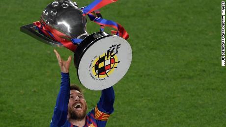 Messi has now won 10 La Liga titles with Barcelona
